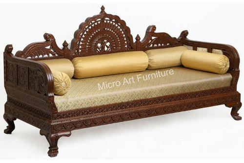 Designer Wooden Sofa Set Carving Wooden Sofa लकड क