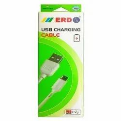 White ERD USB Charging Cable