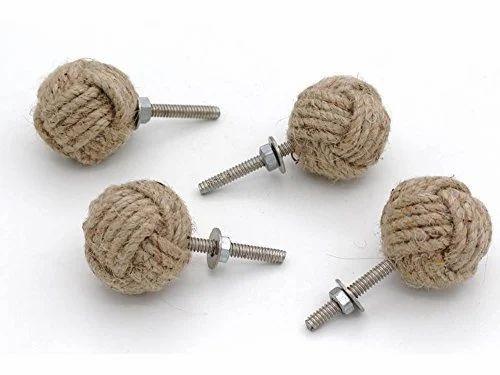 Jute Rope Shelves//Cabinet Drawer Pulls Knobs 10