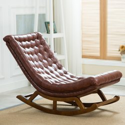 Designer Teak Wood Rocking Chair
