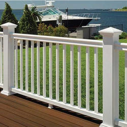 White Railing Baluster