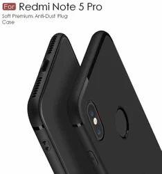 half off fff65 88c42 For Xiaomi Redmi Note 5 Pro Back Cover Black Candy Soft Case