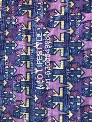 Schiffli Embroidery Digital Print Fabric