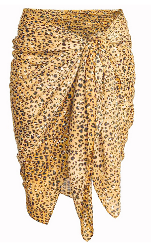 13727aa506435 Free Size Womens Leopard Print Beach Wear Sarong (Tiger Print Color ...
