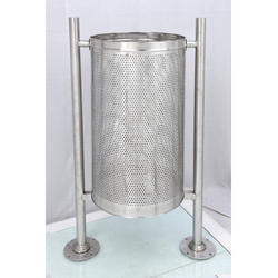 Stainless Steel Dust Bin With Stand