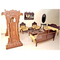 Traditional Wooden Sofa Set and Swing