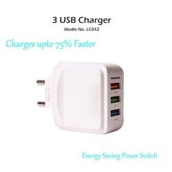 3 USB3 Port 3 Amp Charger