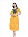 Soochirang Designer Pure Cotton Jaquard Maxi Dress