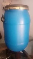 Blue HDPE 75 LTRFULL OPEN DRUM, Capacity: 50-100 litres, Packaging Type: Powder And Paste