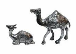 Metal Camel Pair Statue Sculpture
