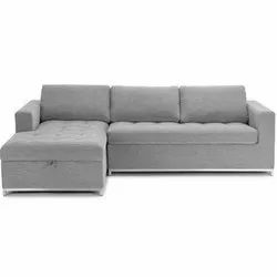 Gray Corner Sofa Set, Seating Capacity: 3 Seater, 3 Years