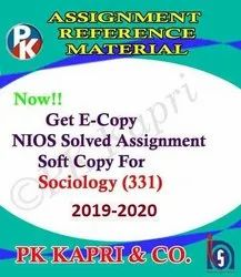 NIOS TMA Online Solved Assignments 2020 Sociology 331 Class 12th in PDF Format
