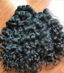 Indian Human Double Weft Curly Hair