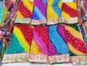 Silk Bandhej Gota Patti Saree