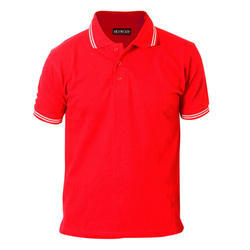 Red Half Sleeves Cotton Promotional T-Shirt