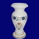 Inlay Work Marble Flower Vase
