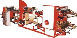 Paper bag making machine with 4 colour printing