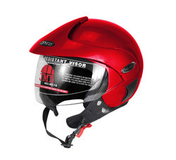 Wonder with Peak Red Glossy Helmet, Size: L