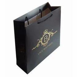 Black Printed Paper Bags, Capacity: 3 Kg