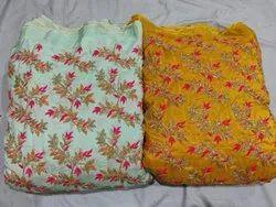 7-8 Color Thread Upada Silk Fabric for Garments