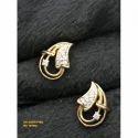 Party Wear Diamond Leaf Earrings