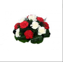 Red , White Red And White Carnation Arrangement Fa6