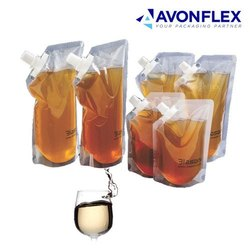 Plastic Laminated Wine Packaging Pouch