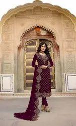 Pr Fashion Launched Heavy Designer Straight Suit