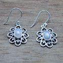 925 Sterling Silver Jewelry Rainbow Moonstone Handmade Earring We-5363