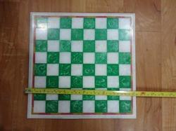 Green And White Marble Chess Board