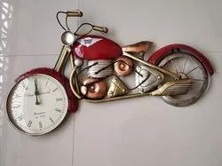 Golden Iron Metal Bikes N Cars for Wall Decoration