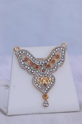 Casual Wear HR Pink and White Diamond Pendant, Model: HR-68