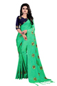 Ladies Wear Chanderi Cotton Saree With Blouse Piece