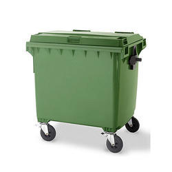 Industrial Garbage Collection Hardened Plastic Trolley