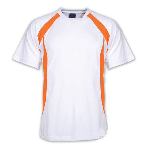 66f646cd254 And XL White And Orange Mens Sports Half Sleeve T Shirt