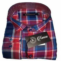 Men Slim Fit Pre Washed 100% Cotton Mens Check Shirt