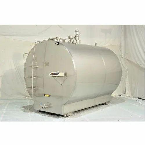 Horizontal Bulk Milk Chiller, Tank Capacity: 2500 Liter