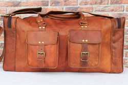 Leather Duffel Bag, Travel Bag, Luggage, Handmade Leather Bags, Vintage Leather Bags