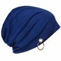 Blue Slouchy Ring Beanie