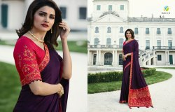 Vinay Sheesha Heritage Vol 2 Gold Silk Party Wear Fancy Saree
