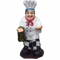 Fiber Hotel's Cook Statue for Decorative Purpose, Size/Dimension: 42 Inch
