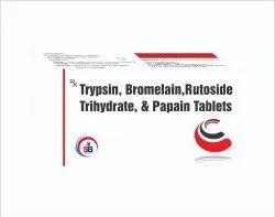 Trypsin, Bromelain & Rutoside Trihydrate & Papain Tablets