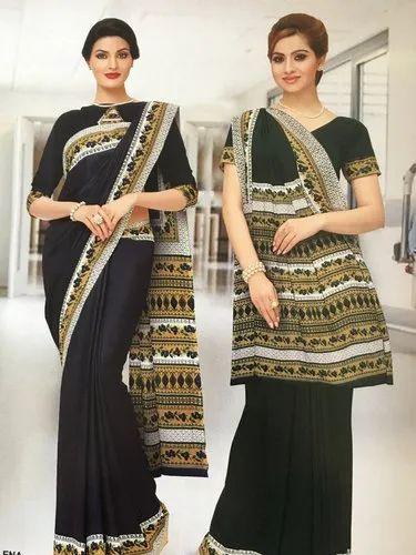 Printed Uniform Saree