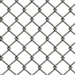 Grey Galvanized Chain Link Fence, Wire Diameter: 2.5-4 mm, Height: 4 -10 Ft