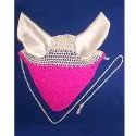 Pink-White Horse Ear Bonnet