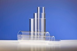 Glass Cylindrical Quartz Tray & Reaction Tube, For Laboratory