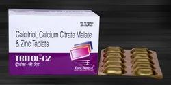 Calcitriol 0.25 mcg, Cal.Citrate Malate 1000 mg & Zinc 7.5 mg Tablets