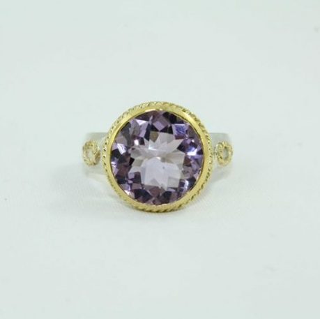 Natural Amethyst Stone Gold Ring at Rs 6000 piece