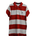 Mens Cotton Red And White T Shirt, Size: S To Xl