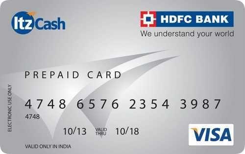 hdfc bank and blue hdfc itz ebix prepaid card - Prepaid Atm Card